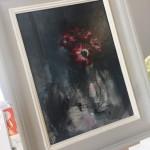 Red-Anemone-Wychwood-Art-Jemma-Powell-view-of-painting