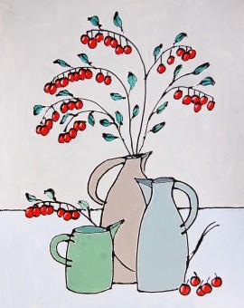 Three Dinky Jugs - Jacky Hawthorn - Wychwood Art