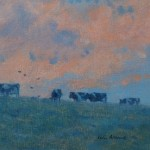 Allbrook-Cattle-and-Evening-sky.-Cattle-on-the-skyline-against-orange-sky copy 3