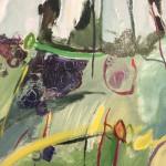 Elaine Kazimierczuk Autumn Diptych, Bramble and Elderberry (Bramble) left panel close-up 1 Wychwood Art