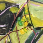 Elaine Kazimierczuk Autumn Diptych, Bramble and Elderberry (Bramble) left panel close-up 3 Wychwood Art