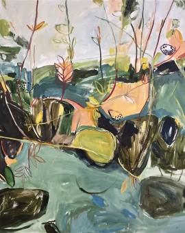 Elaine Kazimierczuk Autumn Diptych, Bramble and Elderberry (Elderberry) right panel Wychwood Art