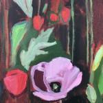 Elaine Kazimierczuk, Opium Poppies Again, Oxford Botanic Gardens, close-up 1, Wychwood Art