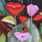Elaine Kazimierczuk, Opium Poppies Again, Oxford Botanic Gardens, close-up 2, Wychwood Art