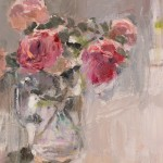 Lynne Cartlidge Roses in a Glass Jug Two Wychwood Art