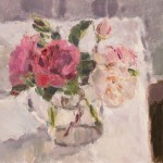 Lynne Cartlidge Roses in a Glass Jug Wychwood Art