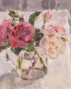 Lynne Cartlidge Roses in a Glass Jug Wychwood Art