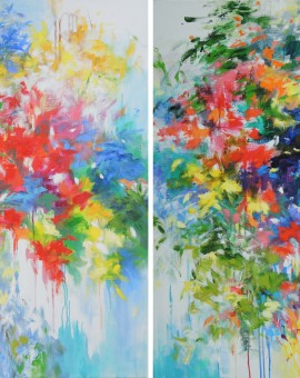 Mary Chaplin Through the mist of my memory, diptych Wychwood Art