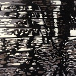 Southbank Puddles | Alexandra Buckle | Limited Edition Lino Print | Original Contemporary Art | Cityscape | Gift Art
