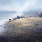 A-walk-on-the-beach-Aldeburgh-Michael-Sanders-Wychwood-Art