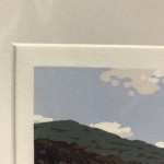 Alexandra Buckle, Grasmere View, Limited Edition Linocut Print, Contemporary Landscape Art, Close up