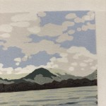 Alexandra Buckle, Grasmere View, Limited Edition Linocut Print, Contemporary Landscape Art, Close up 2