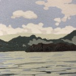 Alexandra Buckle, Grasmere View, Limited Edition Linocut Print, Contemporary Landscape Art, Close up 3