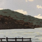 Alexandra Buckle, Grasmere View, Limited Edition Linocut Print, Contemporary Landscape Art, Close up 4