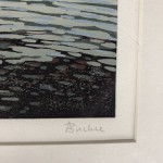 Alexandra Buckle, Grasmere View, Limited Edition Linocut Print, Contemporary Landscape Art, Close up 7