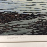 Alexandra Buckle, Grasmere View, Limited Edition Linocut Print, Contemporary Landscape Art, Close up 9