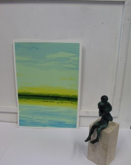 Chris Keegan, Blue Skies, Silkscreen Print, Landscape Art 5