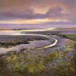 Dusk-at-Morston-Wychwood-Art-Michael-Sanders-Purple-Print