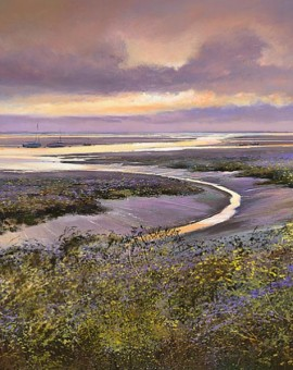 Dusk-at-Morston-Wychwood-Art-Michael-Sanders-Purple-Print