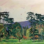 Eleanor Woolley | A View from Highnam Curch | Expressionist