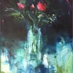 Jemma-Powell-Three-red-roses-Wychwood-Art-Original-Painting