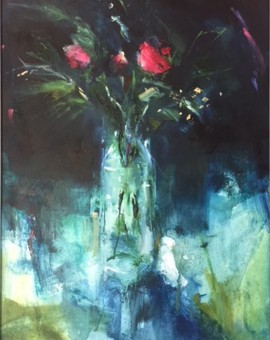 Jemma-Powell-Three-red-roses-Wychwood-Art-Original-Painting