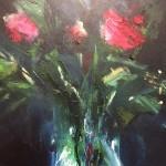 Jemma-Powell-Three-red-roses-Wychwood-Art-Original-Painting-Detail3