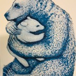 Southall Tim. Bear Hugs  Blue. Wychwood Art