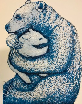Southall Tim. Bear Hugs  Blue. Wychwood Art