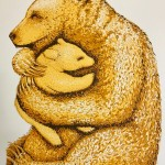 Southall Tim. Bear Hugs  Gold. Wychwood Art