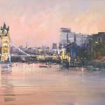 Tower-Bridge-With-Gherkin-Michael-Sanders-40×120-cm-Wychwood-Art