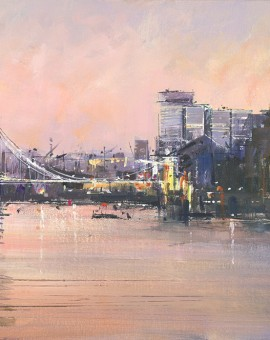 Tower-Bridge-With-Gherkin-Michael-Sanders-40x120-cm-Wychwood-Art