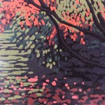 Limited Edition ALexandra Buckle Linocut Print, Autumn Acers, Autumn Art