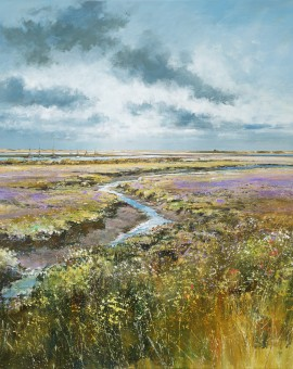 marsh-lavender-Michael-Sanders-Wychwood-Art-limited-Edtition-Print