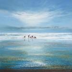 michael-sanders_a-busy-day-at-the-beach-Wychwood-Art-Seascape-Beach-Art