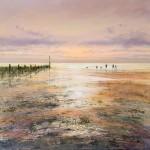 november-dusk-sheringham-beach-Wychwood-Art-Michael-Sanders