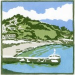 A+Bay+in+Cornwall-Fiona Carver-Limited edition print -Linocut print - Wychwood art 2