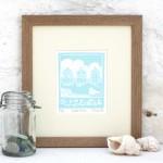 Beach Huts - Fionar carver - Limited edition print - Linocut print 3
