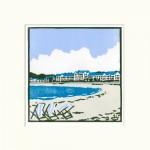 Deckchairs+at+Exmouth – Fiona carver – Limited edition print-lino cut print – Wychwood art.jpg 2
