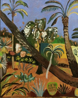 Elaine Kazimierczuk Little Marjorelle with Leaning Palms Wychwood Art