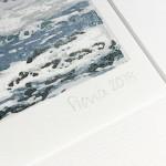 Fiona Carver Wave 1 linocut signature wychwood art