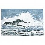 Fiona Carver Wave 1 linocut wychwood art