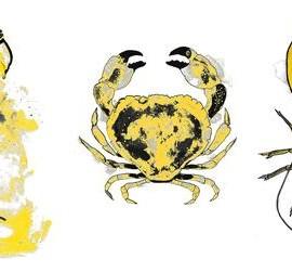 Gavin Dobson - Special Gold Trio  - Limited edition print - Wychwood art