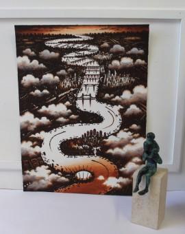 John Duffin, Thames Cloud, Limited Edition Print, London Art