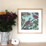 KateHeissTwoTurtleDoves-lifestyle_original-Art_contemporary_print_WychwoodArts