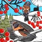 KateHeiss_BramblingsandBerries-Linocut_WychwoodArt