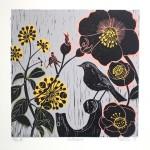 KateHeiss_Hellebore_Garden_flowers_Winter_Print_WychwoodArts