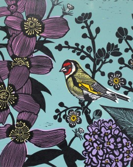 KateHeiss_IntheGarden-goldfinch_bird_Landscape_WychwoodArts