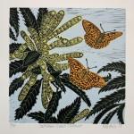 KateHeiss_SnettishamSweetChestnut_nayure_linocut_printmaking_butterfly_WychwoodArt