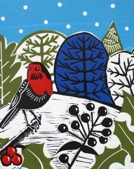KateHeiss_WinterHedgerow_Robin_WychwoodArt